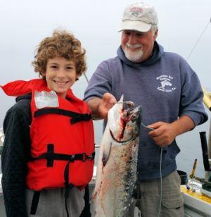 boy with tuna